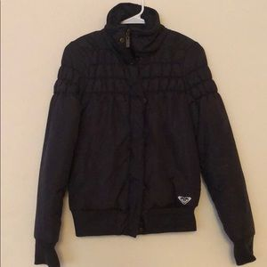 Black Roxy bomber jacket size small